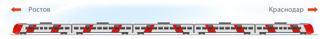 Поезд Ласточка премиум схема поезда