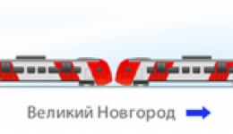 поезд Ласточка схема поезда