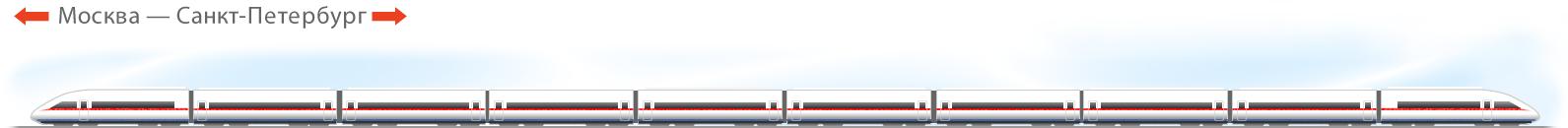 """вагоны поезда """"Сапсан"""""""