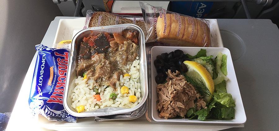 авиакомпания Аэрофлот еда на борту