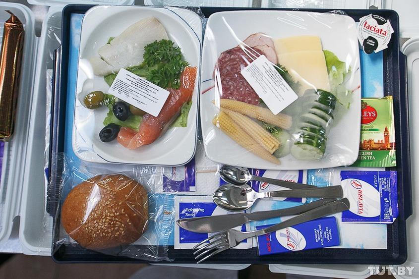 авиакомпания Белавиа еда на борту